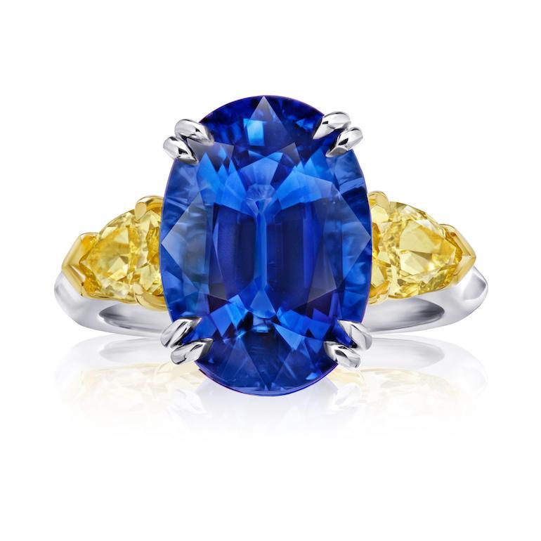 Blue Sapphire & Yellow Diamond