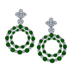 Emerald & Diamond Earings