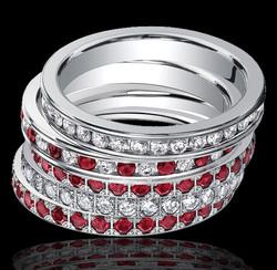 Ruby & Diamond Eternity Bands