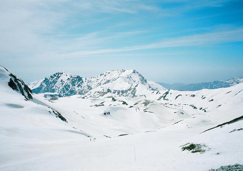 残雪の立山