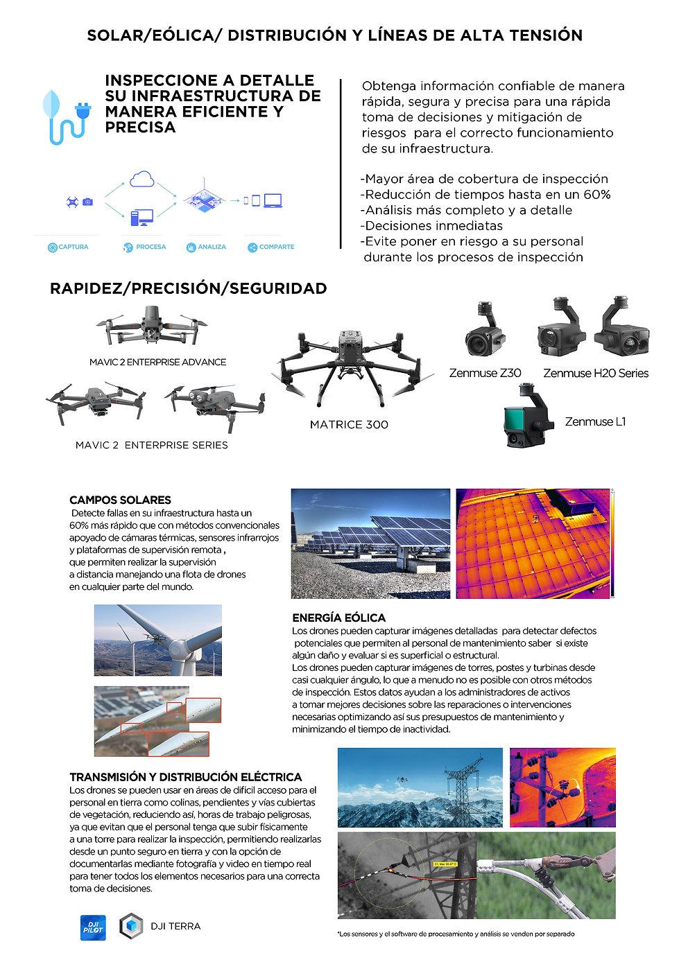 Drones para inspecciones Energías Renovables