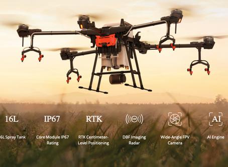 DJI Agras T16 el nuevo drone de aspersión