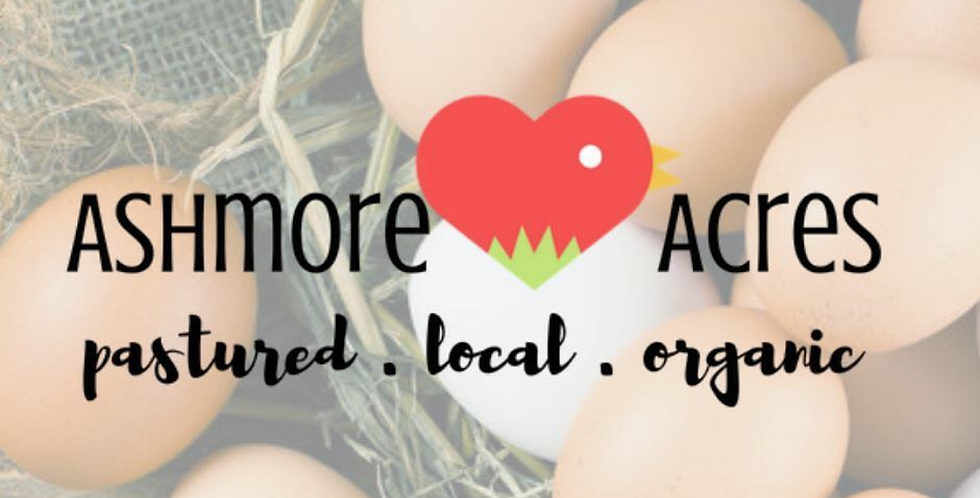 Organic eggs from Ashmore Acres