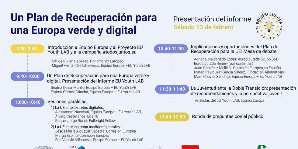 Zoom Meeting: Un plan de recuperación para una Europa verde y digital que cumplan con los retos de la Agenda 2030.