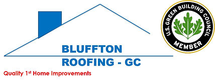 Bluffton Roofing - GC Logo with Green Bu