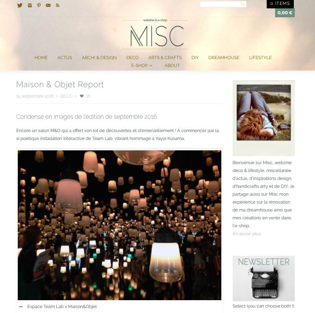 MISC - Maison&Objet 2016
