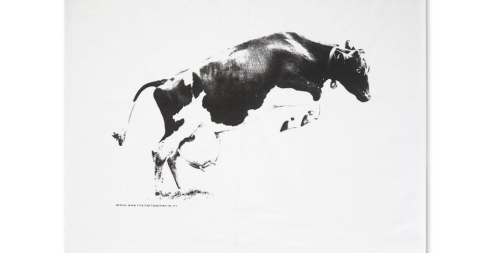 TYYNYLIINA - LENTÄVÄ LEHMÄ - PILLOW CASE Flying Cow