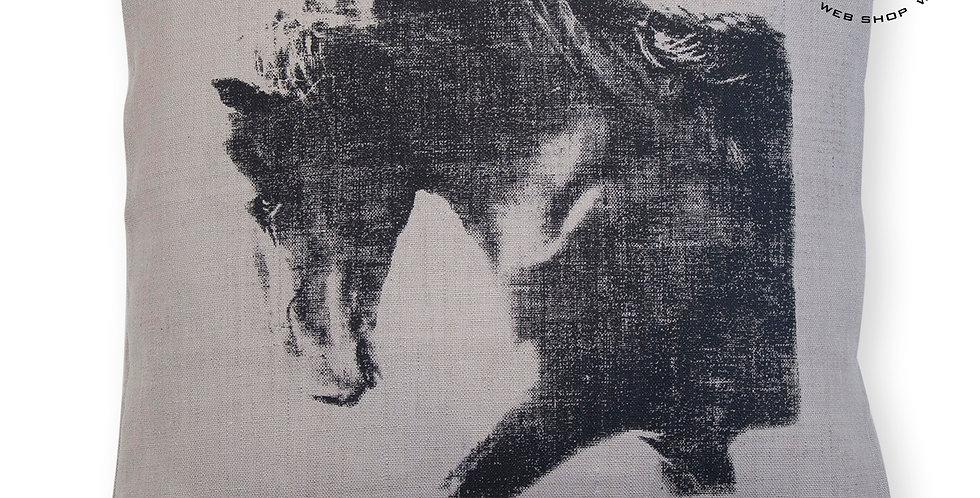 TYYNYNPÄÄLLINEN pellava SUOKKI - Musta ori - CUSHION COVER