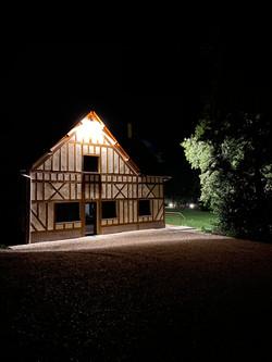 Arrivée de nuit à la maison du vannage