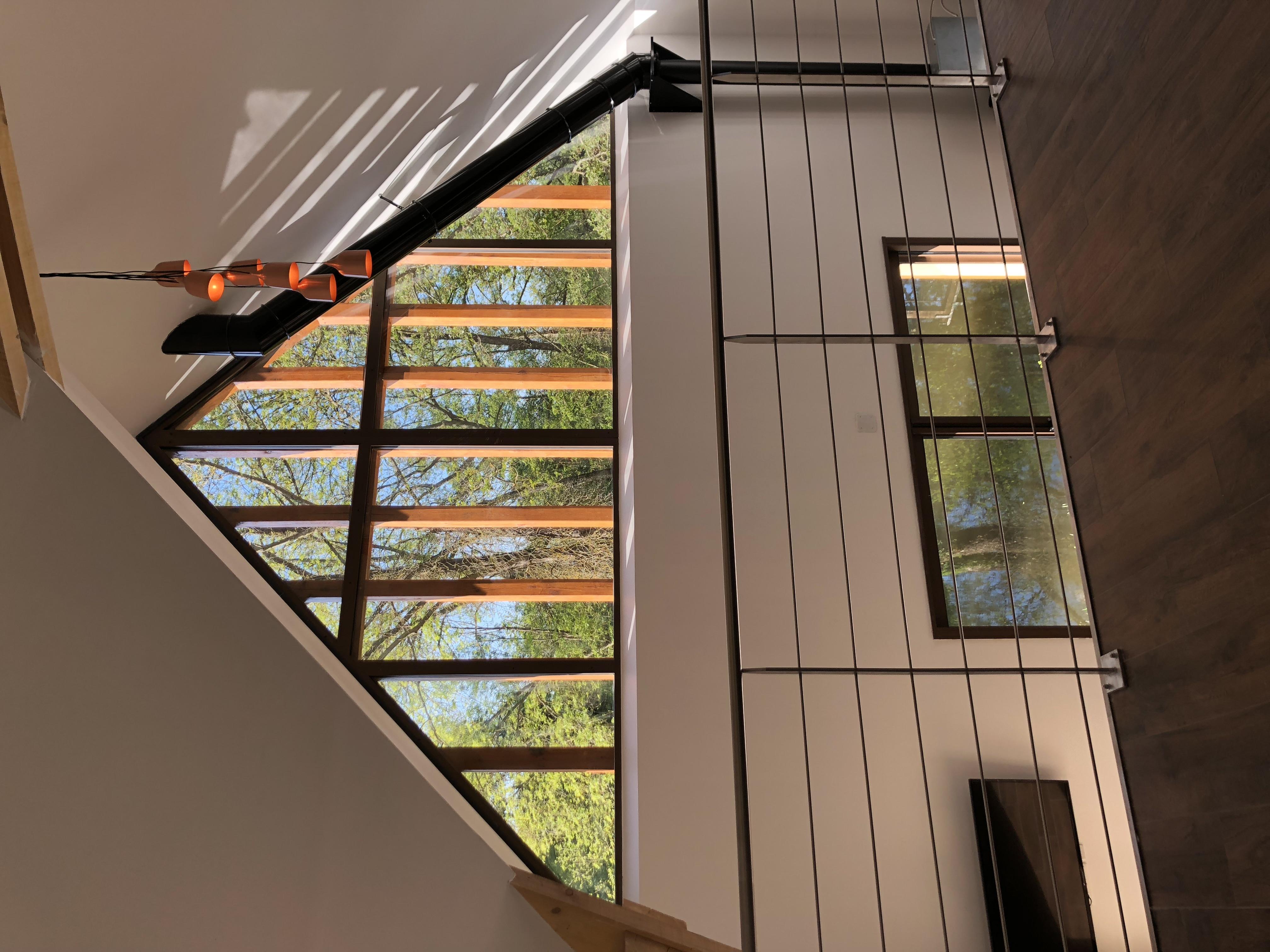 mezzanine pignon vitrée