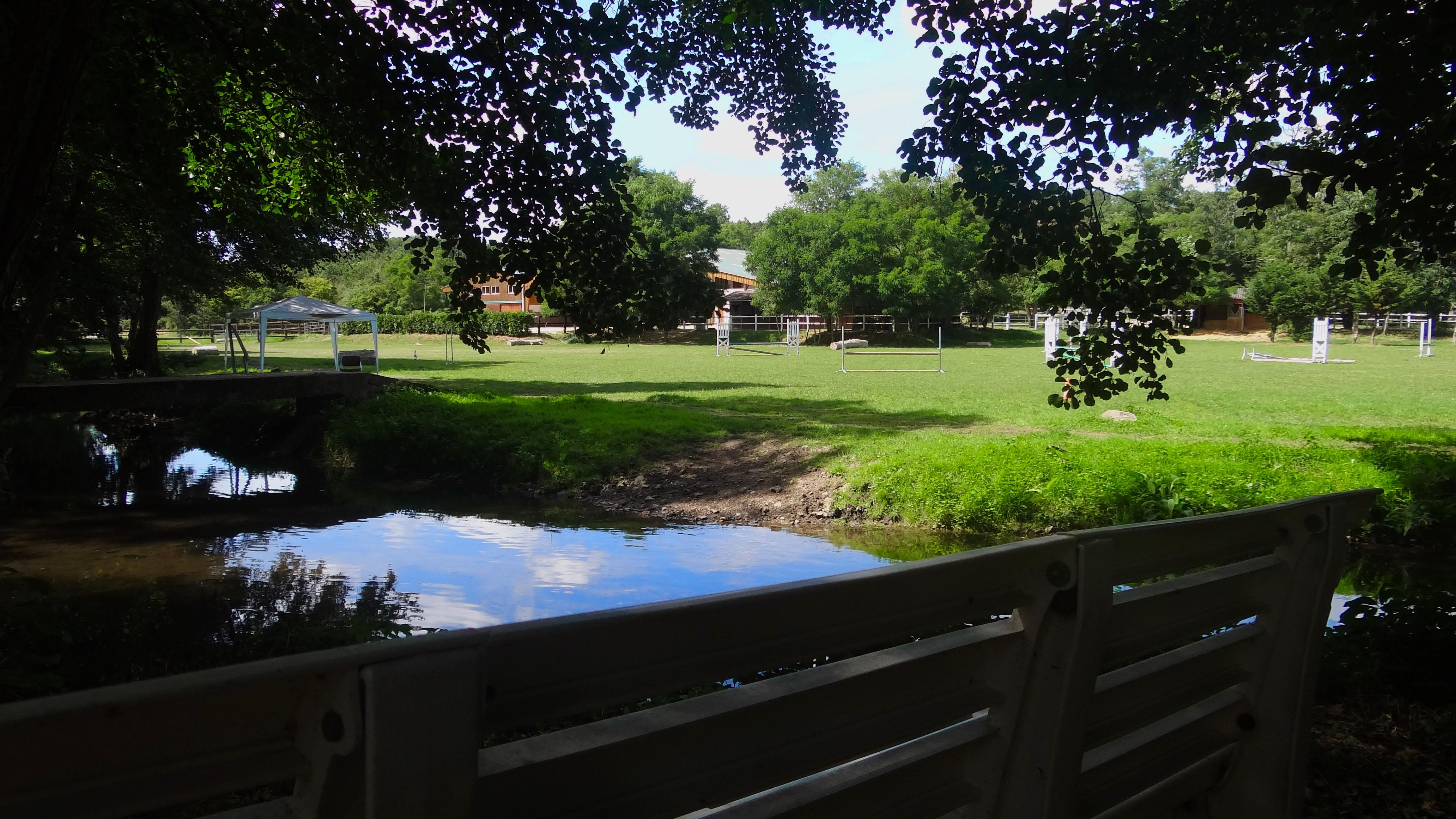 Vue du jardin du Moulin