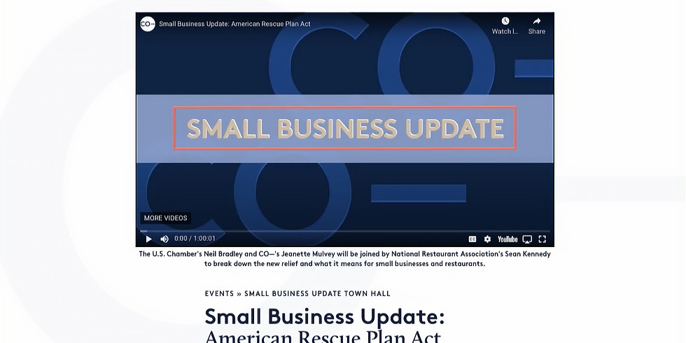 US Chamber / Co: Small Business Update: American Rescue Plan Act