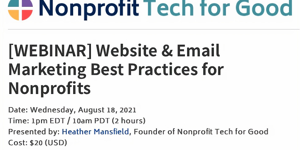 Nonprofit Tech for Good: Website & Email Marketing Best Practices for Nonprofits