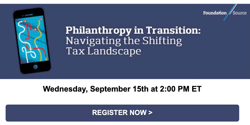 FoundationSource: Philanthropy in Transition - Navigating the Shifting Tax Landscape