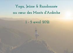 Yoga Jeûne Rando Ardèche