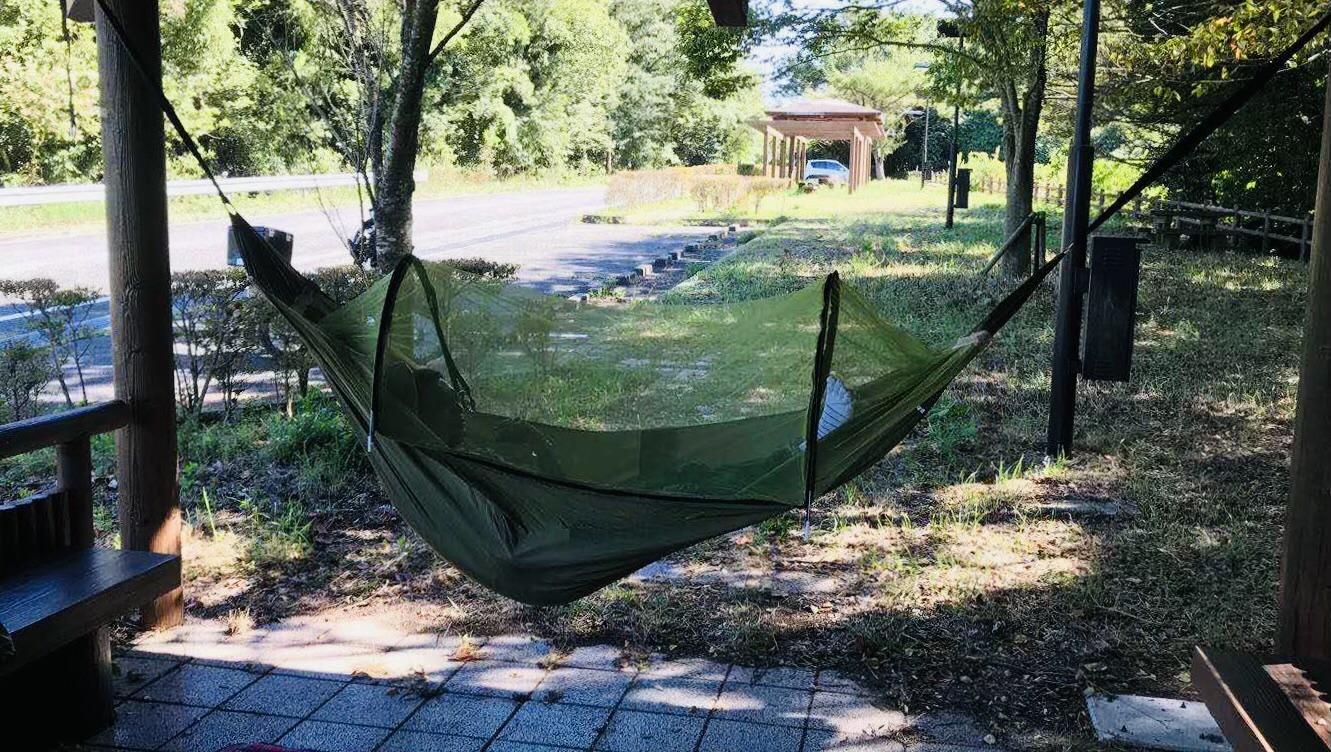 『ゆらゆら揺れる』癒しのリラックス体験セット ハンモック 蚊帳付き