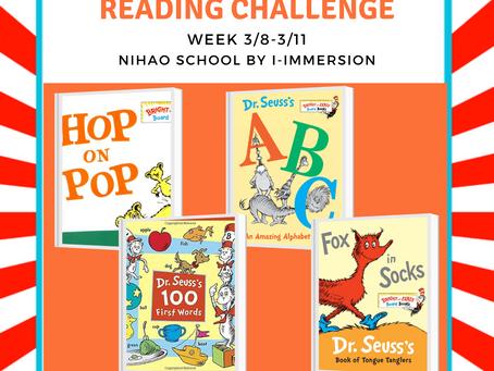 3/8-3/11 Dr. Seuss Reading Challenge
