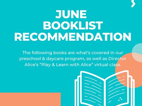 June Booklist Recommendation