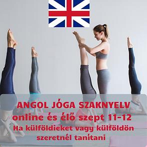 ANGOL JÓGA SZAKNYELV online és élő szept