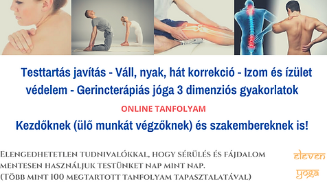 Gerincterápiás jóga és 3 D testanalízis jógával