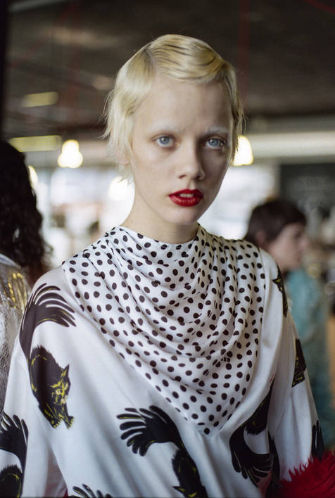 Milan Fashion Week AW2021 Backstage at MSGM with M.A.C Cosmetics