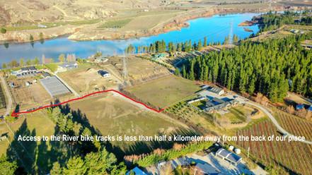 bike trail track from house