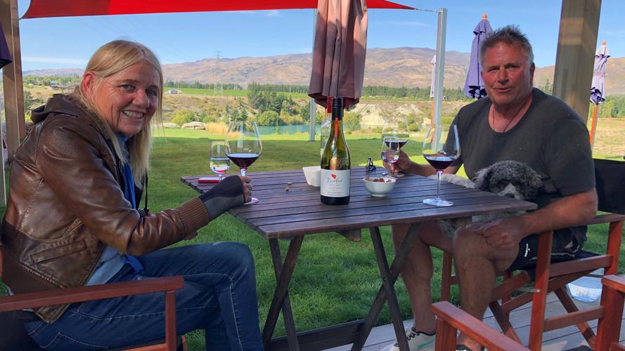 Crew wine tasting