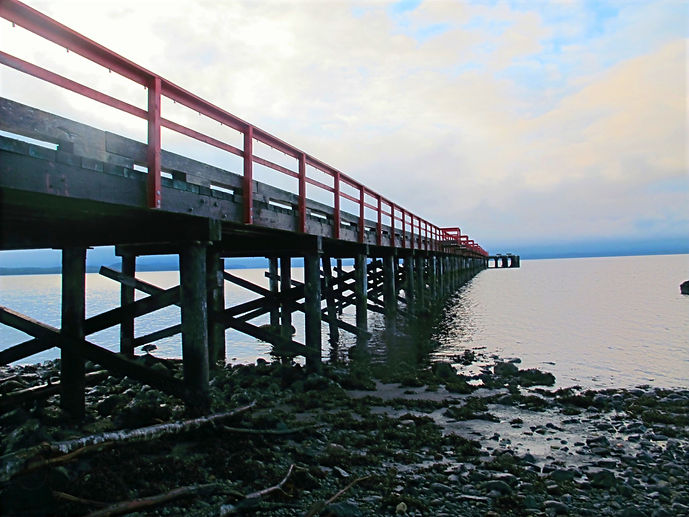The Port Clements Dock. A well known tourist attraction of Haida Gwaii.