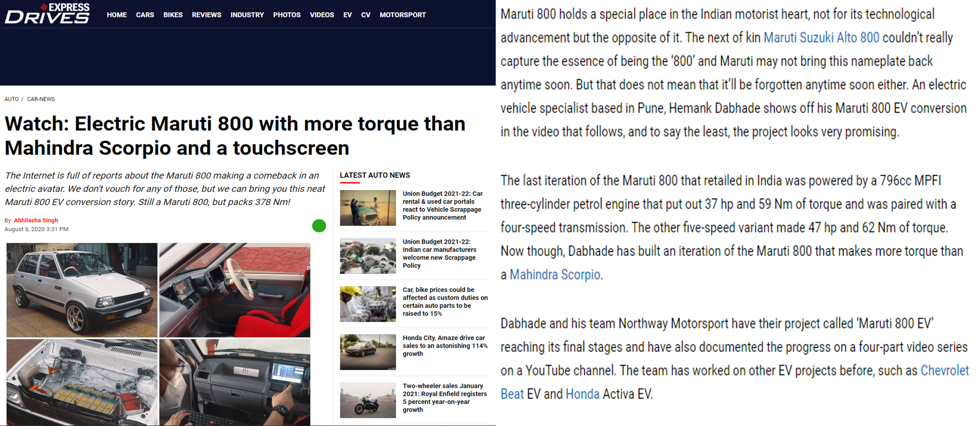 Financial Express M800 Coverage