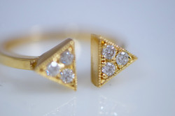 GEO Diamond Double Triangle Ring