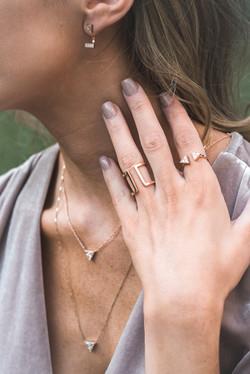 Rose gold rings