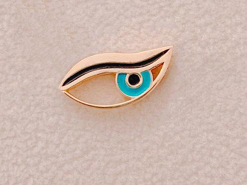 Evil Side Eye Necklace - 14K Gold