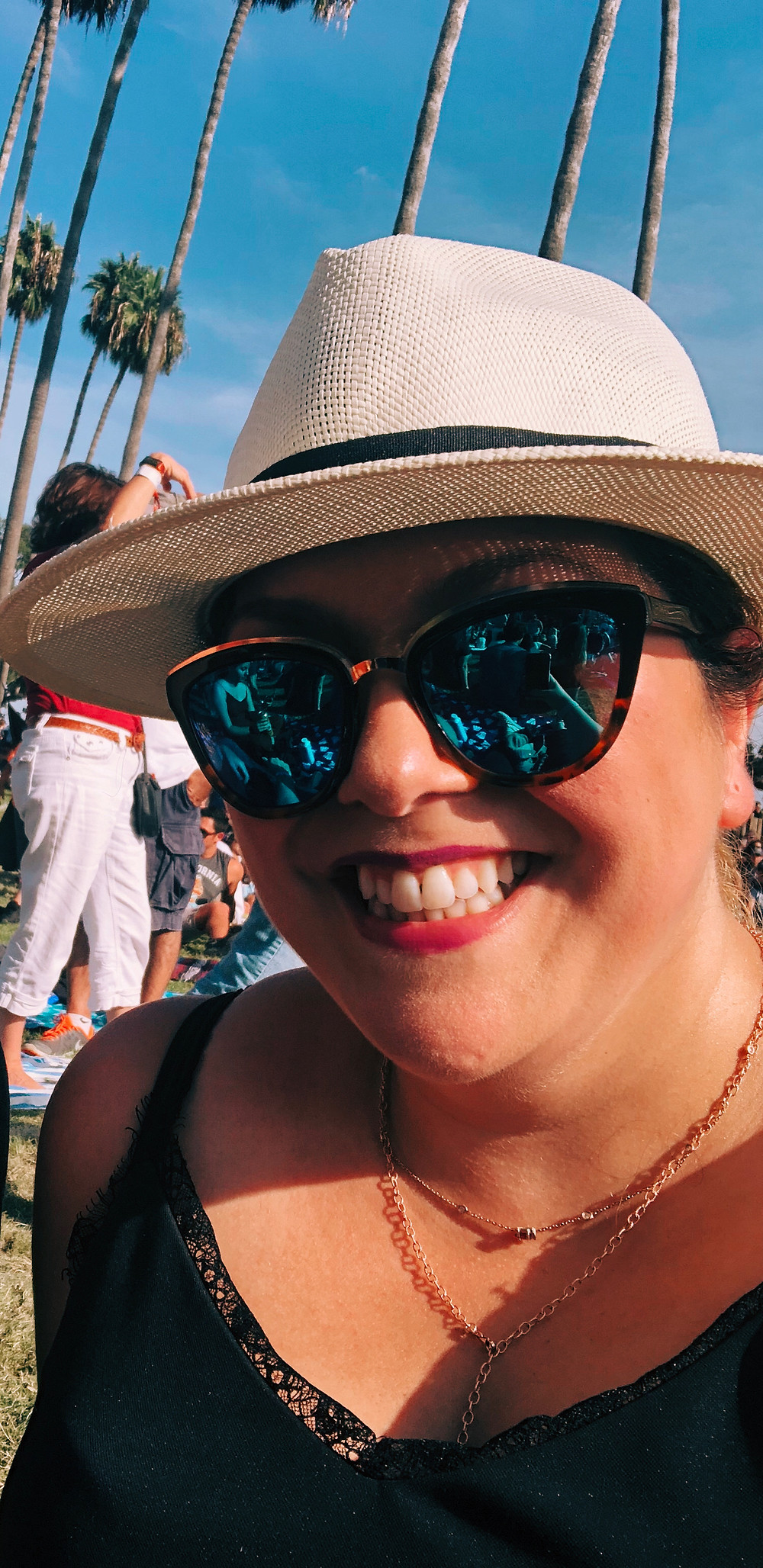 Me sporting my Panama hat at Ohana Fest in Dana Point this past September
