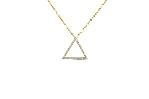 GEO DIAMOND SMALL TRIANGLE PENDANT