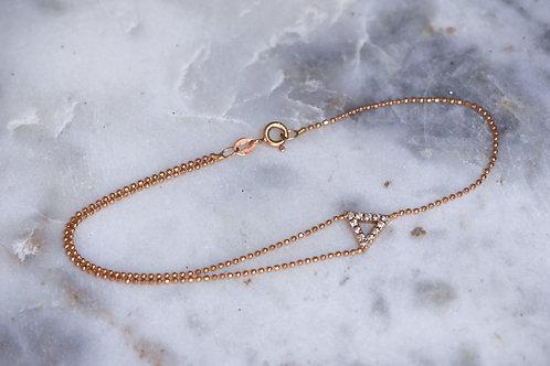 Open triangle diamond bracelet