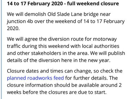 Proposed M4 Closure -Highways England Website