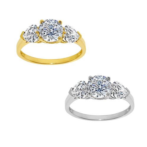 14k Yellow or White Gold 2ct TGW Round-cut Diamonette Engagement Ring