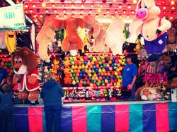 ballon popping game at the fair