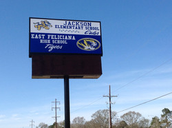 high school LED sign