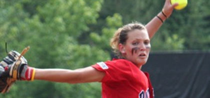 Coach Michaela Pitching In College Game 2010