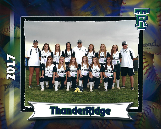 2017 Varsity Thunderridge Softball Team