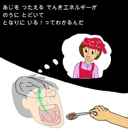 味を伝える電気エネルギーが脳に届いて隣にいるってわかるんだ。