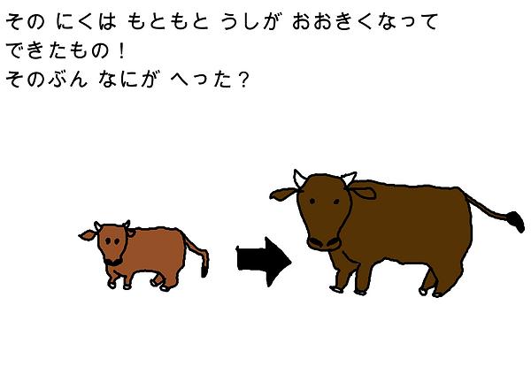 その肉は元々牛が大きくなって出来たもの!その分何が減った?