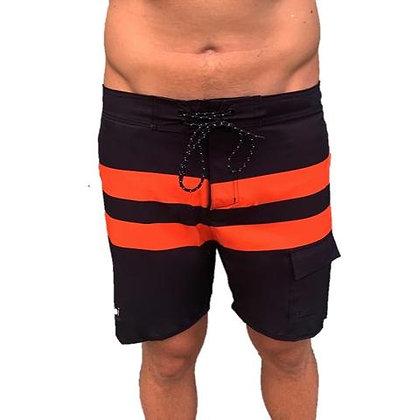 Vaikobi Paddle Board Shorts Black/Orange