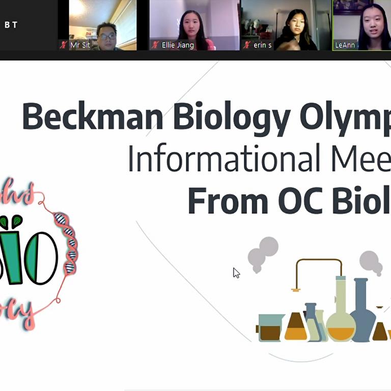 Beckman Chapter Informational Meeting - USABO