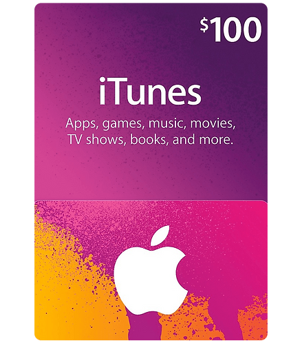 ITunes Gift Card ( 100 Pieces Lot) $100