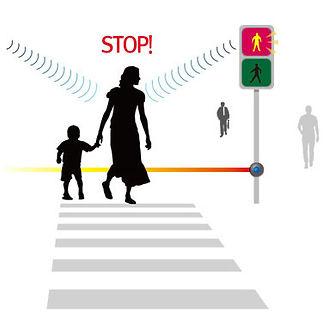 directional speaker at a crosswalk