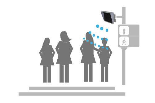 directional speaker for pedestrian
