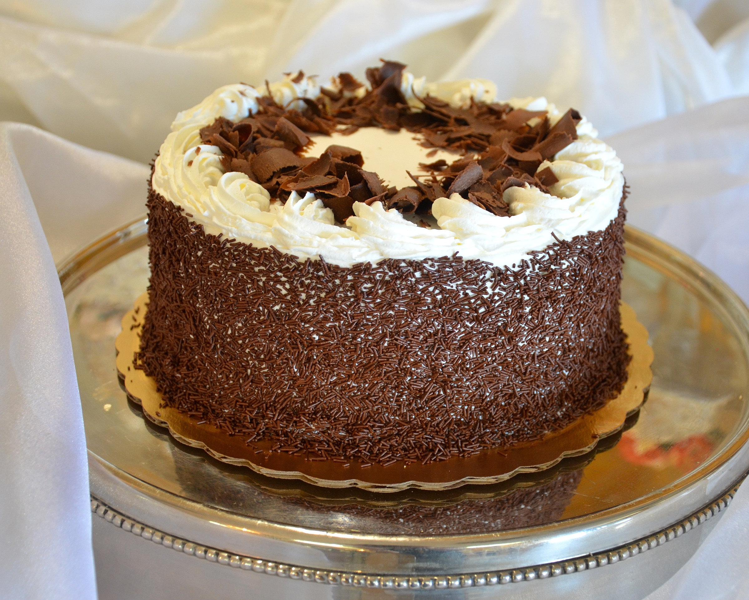 Chocolate Vanilla Layer Cake
