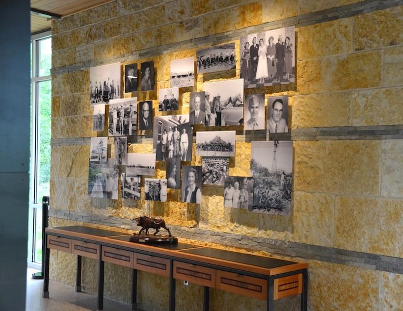 Facemount acrylic photo collage